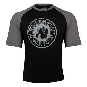 Sjekke Texas T-Shirt, black/dark grey, Gorilla Wear hos SportGymButikken.no