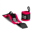 Womens Wrist Wraps, hot pink/white, Better Bodies