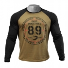 Raglan Long Sleeve Tee, military olive/black, GASP