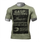 Broad Street Print Tee, wash green, GASP