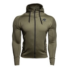 Bridgeport Zipped Hoodie, army green, Gorilla Wear