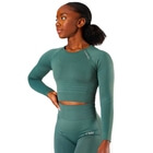 Define Seamless LS Crop Top, jungle green, ICANIWILL